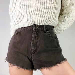 VINTAGE LEE | High Waist Cutoff Brown Cotton Short
